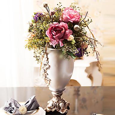 Künstliche Blumen 1pcs Ast Seide Pfingstrosen Tisch-Blumen