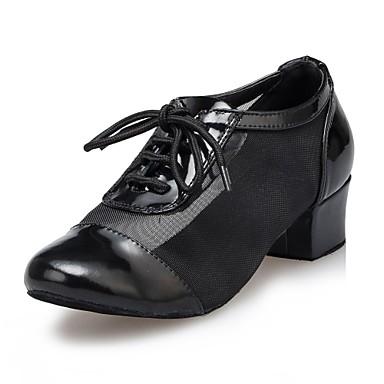 5805fe372a8 moderních dámské podpatky na nízkém podpatku kožené šněrovací boty taneční  boty (více barev)