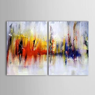 Handgeschilderde Abstract Twee panelen Canvas Hang-geschilderd olieverfschilderij For Huisdecoratie