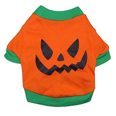 Katze Hund Kostüme T-shirt Austattungen Hundekleidung Cartoon Design Orange Baumwolle Kostüm Für Haustiere Cosplay Halloween