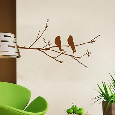 настенные наклейки наклейки для стен, современные ветви птицы пвх стены стикеры