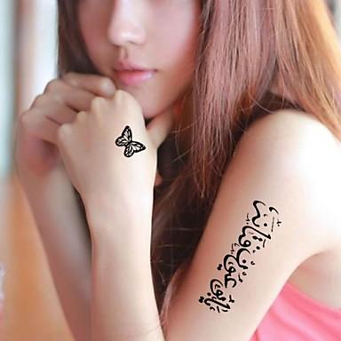 Временные тату Прочее С рисунком Waterproof Женский Girl Взрослый Подростки Вспышка татуировки Временные татуировки