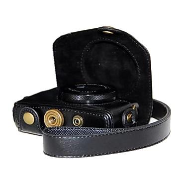 dengpin® retro pu lederen litchi graan cameratas met schouderband voor Canon PowerShot G7 x g7x
