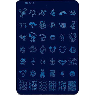 Nail Art штамповка изображения плиты маникюр шаблон мультфильм моды для ежедневных ногтей DIY маникюра