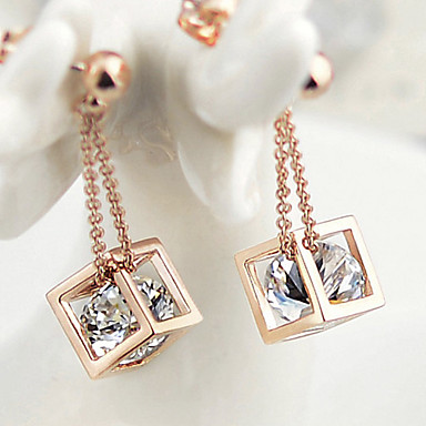 Buy Stud Earrings Gold 18K gold Simulated Diamond Silver Jewelry
