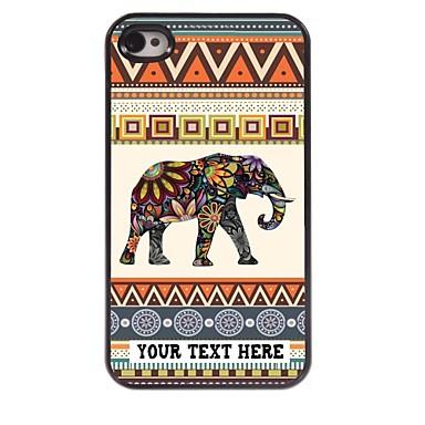 cazul în care telefonul personalizate - elefant carcasa de metal de design pentru iPhone 4 / 4s