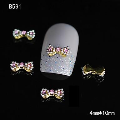 10pcs de moda aliaj de aur papion 3d sfaturi de unghii stras decorare unghii DIY art
