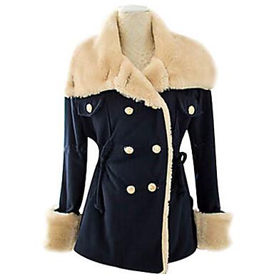 Günlük Özel Yaka - Uzun Kol KADIN - Paltolar & Ceketler (Yapay İpek / Tüvit)