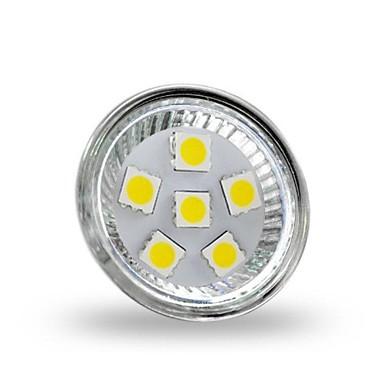 4 W 350 lm GU4(MR11) LED-spotpærer MR11 6 LED perler SMD 5050 Dekorativ Kjølig hvit 12 V / RoHs