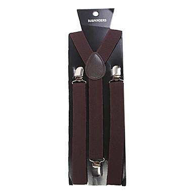 Brun Suspender Solid / Klassisk Herre Kostyme smykker Til Fest / Forretning / Seremoni / Bryllup