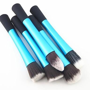 5 Stück Professional Makeup Bürsten Bürsten-Satz- Nylon Pinsel Auge / 2 * Puderpinsel / 1 * Foundation Pinsel Mittelgroße Pinsel /
