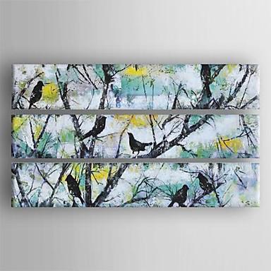 Håndmalte Landskap Vannrett Lerret Hang malte oljemaleri Hjem Dekor Tre Paneler
