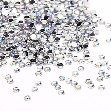 10000pcs 1.5mm egyértelmű ab crystal akril csillogó strassz köröm ékszerek köröm köröm design