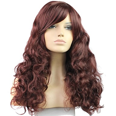 24 Inch 100% High Temperature Fiber Synthetic Female Elegant Fashion Celebrity Long Wave Wig