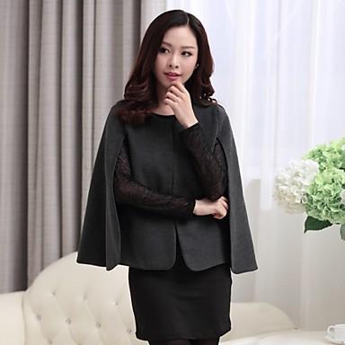 21376162a87 dámské kulatý límec ležérní bat kabáty (dvě barvy k dispozici ...