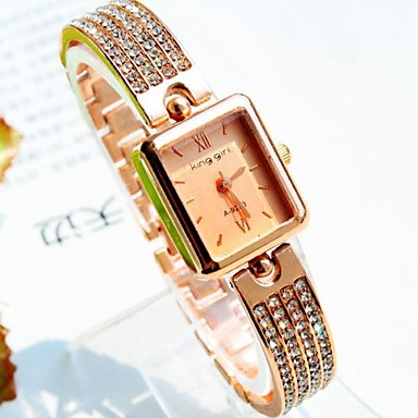 Жен. Кварцевый Модные часы Имитация Алмазный сплав Группа Кулоны Золотистый