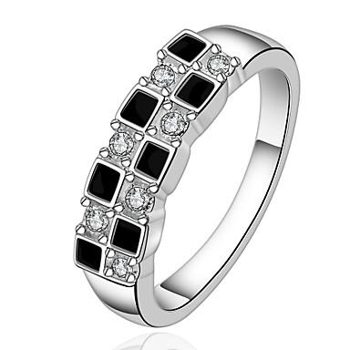 Массивные кольца Мода Простой стиль Циркон Цирконий Геометрической формы Бижутерия Для Для вечеринок 1шт
