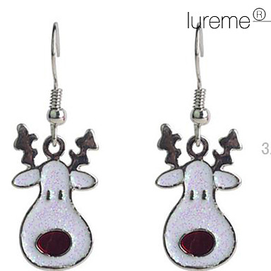 Women's Drop Earrings - Crystal, Silver Plated Deer, Animal For Party / Daily