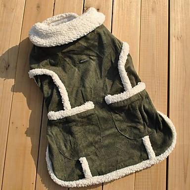 Pisici Câine Haine Γιλέκο Îmbrăcăminte Câini Respirabil Casul/Zilnic Solid Verde Costume Pentru animale de companie
