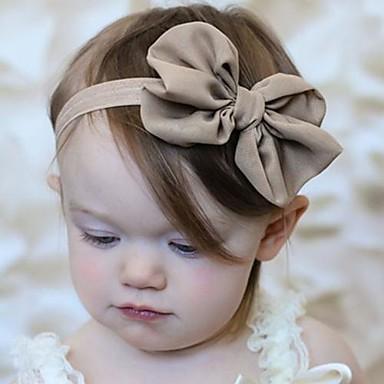 Baby Mädchen Chiffon Haarzubehör Rosa / Kamel / Hellblau Einheitsgröße / Stirnbänder