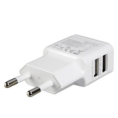 ipad için eu fiş çift usb güç adaptörü duvar şarj cihazı, iphone 8 7 samsung s8 s7&