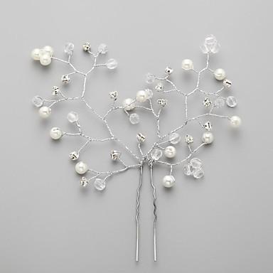 abordables Coiffes-Cristal / Imitation de perle / Zircon Diadèmes / Fleurs / Épingle à cheveux avec 1 Mariage / Occasion spéciale / Fête / Soirée Casque / Tissu / Alliage