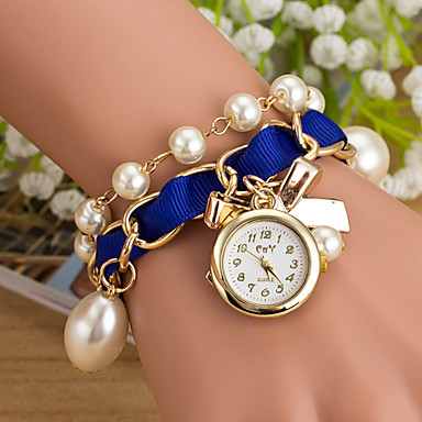 Wanbao női elegáns gyöngy karkötő óra