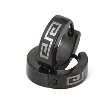 Ring oorbellen Modieus PERSGepersonaliseerd Titanium Staal Kruisvorm Sieraden Voor Causaal Kerstcadeaus