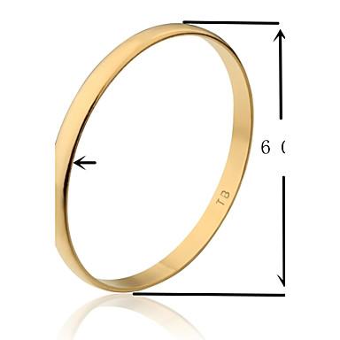 Brățări Brățări Bangle Placat Auriu Others Design Unic La modă Nuntă Petrecere Bijuterii Cadou Auriu,1 buc