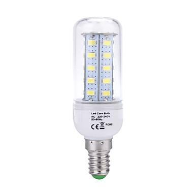E14 LED-maïslampen T 36 leds SMD 5730 Natuurlijk wit 400lm 6500K AC 220-240V