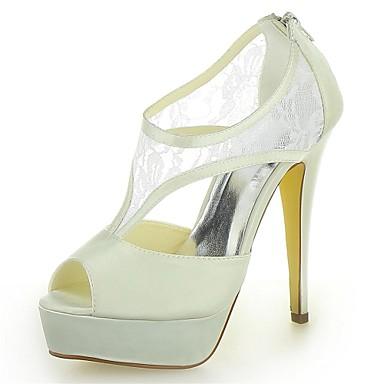 6714d935be9cd Chaussures de mariage - Ivoire   Blanc   Champagne - Mariage - Talons   A  Plateau