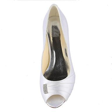 Kitten Jaune Violet Noir Blanc Bleu Talons OuvertSatin Heel 02390324 Homme Bout Ivoire Rose Champagne Mariage Rouge Argent CqPtAU