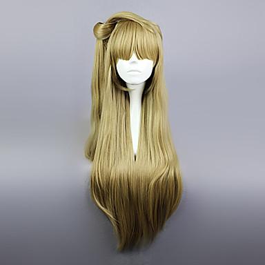 Cosplay Wigs Cosplay Kotori Minami Golden Long Anime Cosplay Wigs 80 CM Heat Resistant Fiber Female