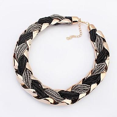 Women's Beads Choker Necklace - Bohemian, Fashion, Boho Black, Blue Necklace For