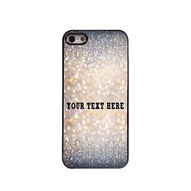 персонализированные телефон случае - блеск дизайн корпуса металл для iPhone 5/5 секунд