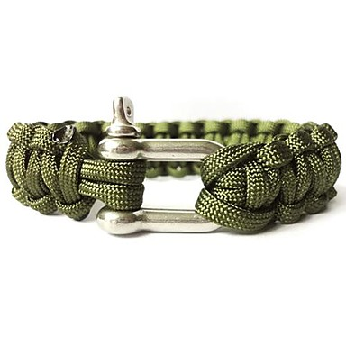 Paracord Bracelet Adjustable, Tactical, Survival for Camping / Hiking / Hunting / Fishing - Alloy