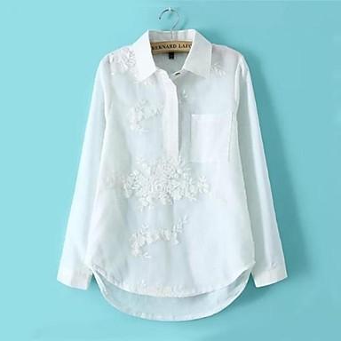 73cc73bced1e γυναικεία μόδα οργάντζα λευκό μακρύ μανίκι πουκάμισα 2472148 2019 ...