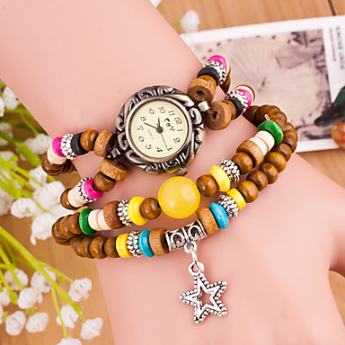 Wanbao Women's Fashion Stars Pendant Bracelet Watch