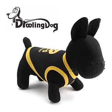Кошка Собака Футболка Одежда для собак Дышащий Черепа Сердца Черный Желтый Синий Черный/Желтый Костюм Для домашних животных