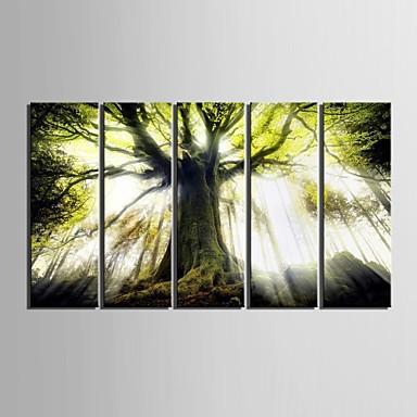 Landschaft Modern, Fünf Panele Vertikal Druck Wand Dekoration Haus Dekoration