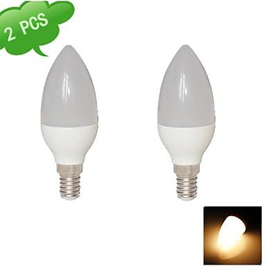 E14 LED gyertyaizzók C35 15 led SMD 2835 Meleg fehér 720lm 3000K AC 85-265V