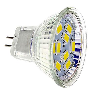GU4(MR11) Точечное LED освещение 9 SMD 5730 430 lm Тёплый белый Холодный белый DC 12 V