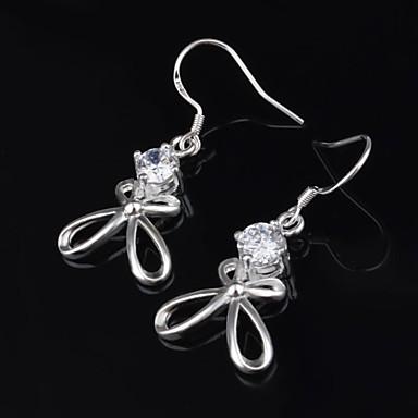 Női Beszúrós fülbevalók Luxus Európai Titánium Hamis gyémánt Rózsák Virág Ékszerek