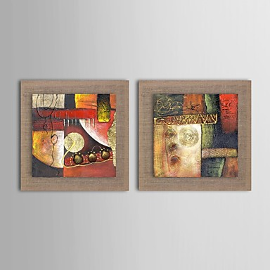 Hand-Painted Fantasy Horizontal Oil Painting Home Decoration Two Panels