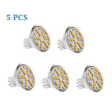 abordables Ampoules électriques-5pcs 2.5 W Spot LED 200-250 lm MR11 24 Perles LED SMD 2835 Blanc Chaud Blanc Froid Blanc Naturel 12 V 12-24 V / 5 pièces