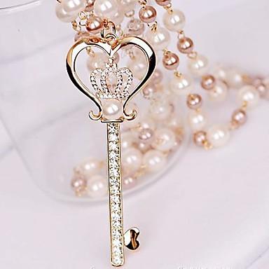 Női Luxus Nyaklánc medálok Biserna ogrlica Gyöngy Hamis gyémánt Ötvözet Nyaklánc medálok Biserna ogrlica ,