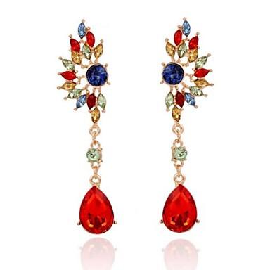 Kadın Damla Küpeler Moda Değerli Taş alaşım Mücevher Uyumluluk