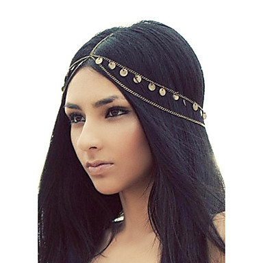 رخيصةأون مجوهرات الشعر-shixin® شرابات الأوروبية عصابات سبيكة ذهبية للنساء (1 جهاز كمبيوتر)