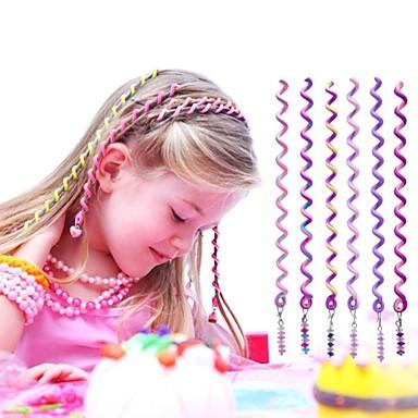 6db 24cm lila gyermek göndör haj kötél