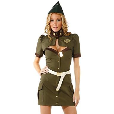 Uniformen Cosplay Kostüme Damen Fest / Feiertage Halloween Kostüme Hohl Stewardessuniform